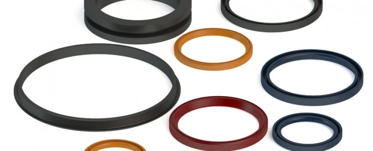 43158681 - rubber sealing rings isolated on white background